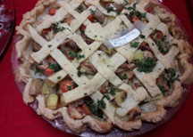 old fashioned lattice pie - one of the baked goods at the holiday bazaar